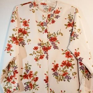 Vintage Long Sleeved Button Down Plus size blouse